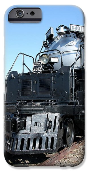 Mechanism iPhone Cases - Union Pacific Big Boy I iPhone Case by Christiane Schulze Art And Photography