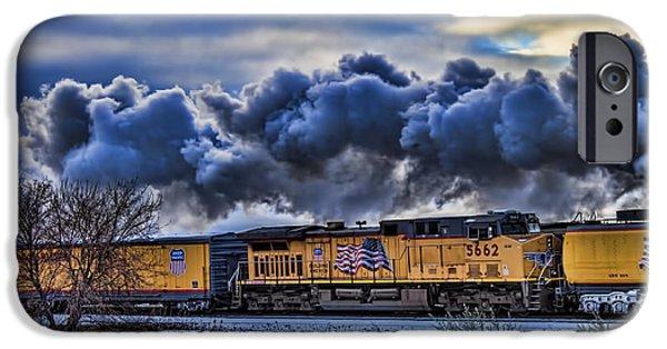 Jeff Swanson iPhone Cases - Union Pacific Train iPhone Case by Jeff Swanson