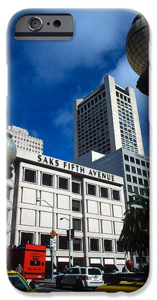 Union Square iPhone Cases - Union Square San Francisco iPhone Case by Kathy Yates
