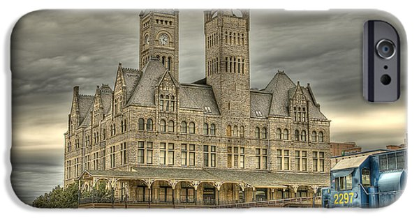 Shed Digital Art iPhone Cases - Union Station iPhone Case by Brett Engle