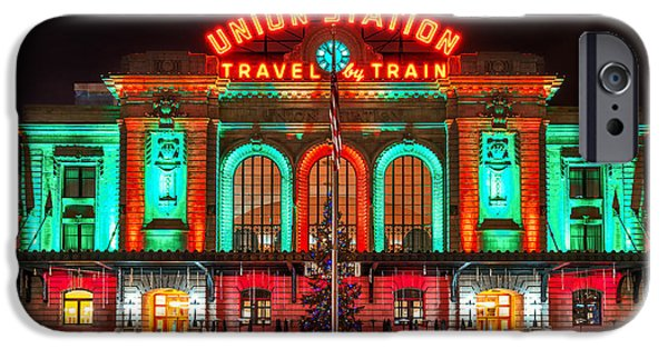 Darren iPhone Cases - Union Station  iPhone Case by Darren  White