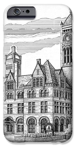 Union Station in Nashville TN iPhone Case by Janet King