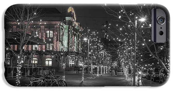 Bare Tree iPhone Cases - Union Station in the Winter iPhone Case by Juli Scalzi