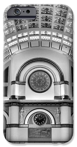 Union Station Lobby Black and White iPhone Case by Kristin Elmquist