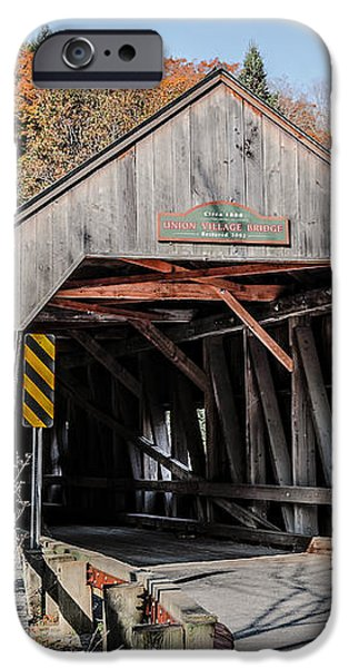 Union Village Covered Bridge Thetford Vermont iPhone Case by Edward Fielding