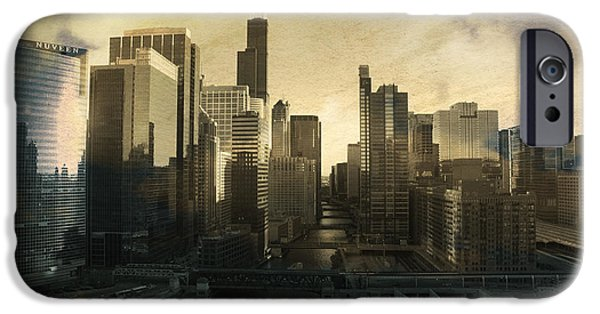 Willis Tower iPhone Cases - Unique Chicago Skyline iPhone Case by Linda Matlow