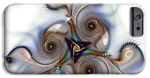 Fractals Fractal Digital Art iPhone Cases - Unison Fractal Art iPhone Case by Karin Kuhlmann