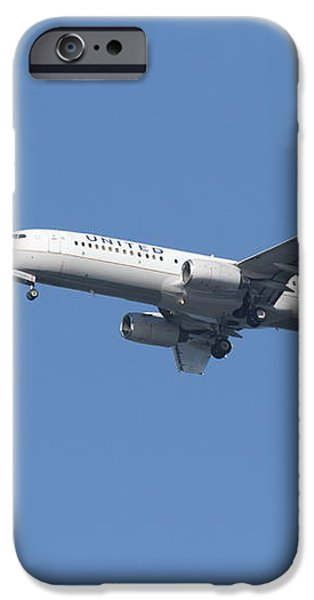 United Airlines Jet 7D21942 iPhone Case by Wingsdomain Art and Photography