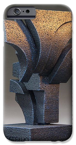Stainless Steel Sculptures iPhone Cases - United Front  iPhone Case by Richard Arfsten