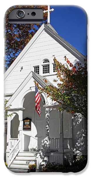 National Treasure iPhone Cases - United Methodist Parish House iPhone Case by Juergen Roth