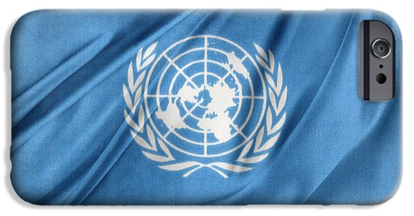 Wavy iPhone Cases - United Nations iPhone Case by Les Cunliffe