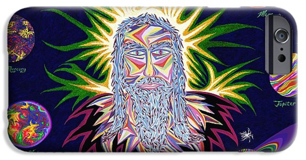 Turin Digital Art iPhone Cases - United Planets of Jesus Christ iPhone Case by Robert  SORENSEN
