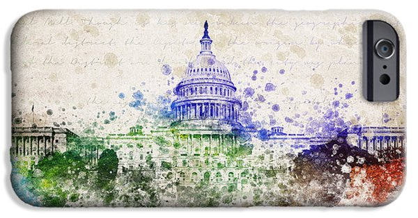 Capitol iPhone Cases - United States Capitol iPhone Case by Aged Pixel