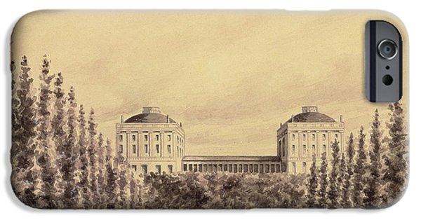 The Horse iPhone Cases - United States Capitol from Pennsylvania Avenue iPhone Case by Benjamin Henry Latrobe