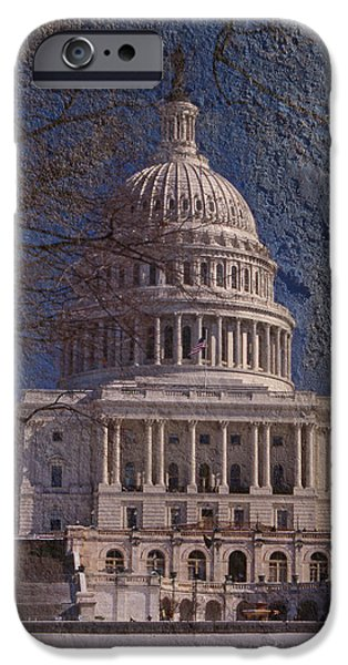 Of Power iPhone Cases - United States Capitol iPhone Case by Skip Willits