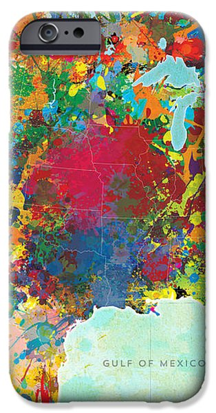 United States Map iPhone Case by Gary Grayson