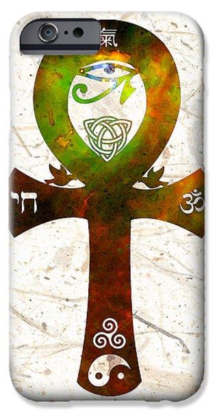 Buying Online Digital iPhone Cases - Unity 11 - Spiritual Artwork iPhone Case by Sharon Cummings