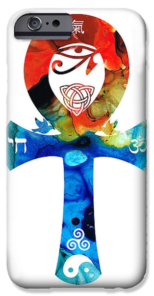 Unity 16 - Spiritual Artwork iPhone Case by Sharon Cummings
