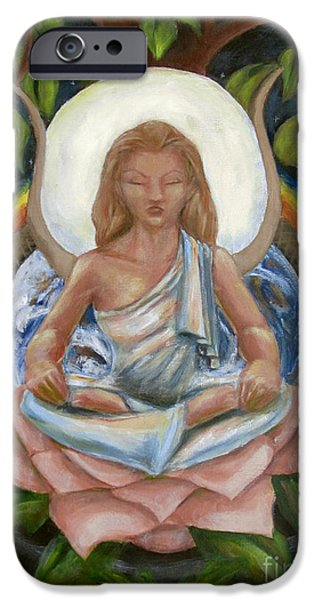 Hathor Paintings iPhone Cases - Universal Goddess iPhone Case by Samantha Geernaert