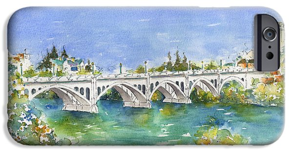 Sienna iPhone Cases - University Bridge iPhone Case by Pat Katz