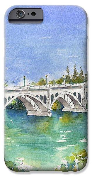 University Bridge iPhone Case by Pat Katz