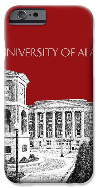 Tuscaloosa iPhone Cases - University of Alabama #2 - Dark Red iPhone Case by DB Artist
