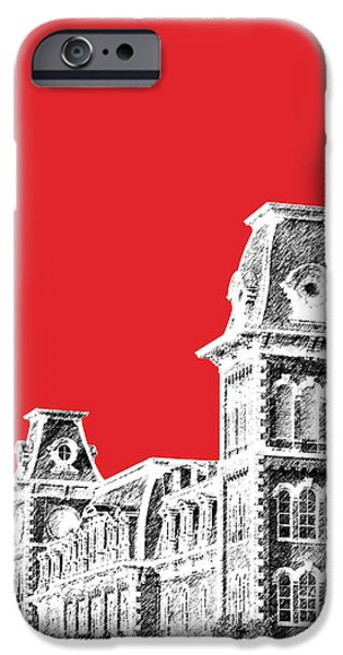 Universities Digital iPhone Cases - University of Arkansas - Red iPhone Case by DB Artist