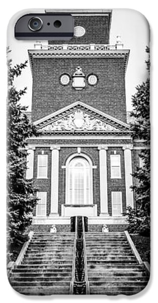 Tree Art Print iPhone Cases - University of Cincinnati Vertical Panoramic Picture iPhone Case by Paul Velgos