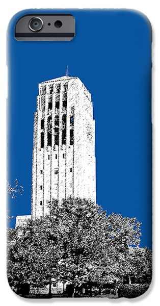 Universities Digital iPhone Cases - University of Michigan - Royal Blue iPhone Case by DB Artist