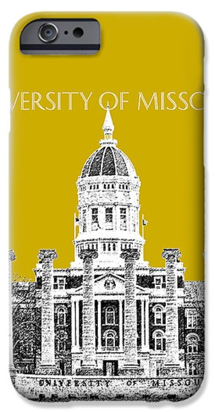 The Tiger iPhone Cases - University of Missouri - Gold iPhone Case by DB Artist