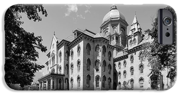 Quad iPhone Cases - University of Notre Dame Main Building iPhone Case by University Icons