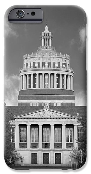 Honorarium iPhone Cases - University of Rochester Rush Rhees Library iPhone Case by University Icons