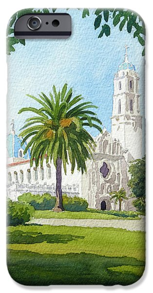 Roof iPhone Cases - University of San Diego iPhone Case by Mary Helmreich