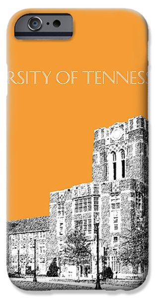 Pen And Ink iPhone Cases - University of Tennessee - Orange iPhone Case by DB Artist