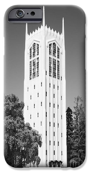 Stockton iPhone Cases - University of the Pacific Burns Tower iPhone Case by University Icons