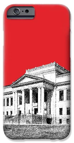 Pen And Ink iPhone Cases - University of Utah - Red iPhone Case by DB Artist