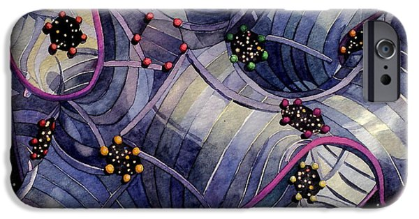Intergalactic Space Paintings iPhone Cases - Univirus iPhone Case by Jeffrey S Perrine