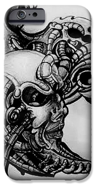 H.r. Giger iPhone Cases - Unknown iPhone Case by Chris Gill