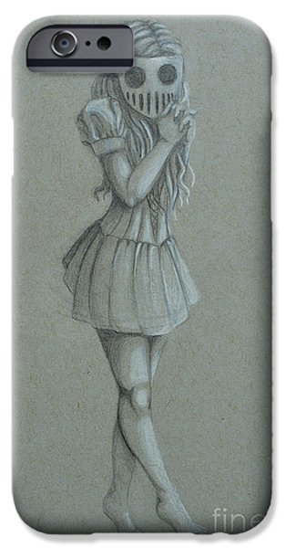 Figure iPhone Cases - Unknown Intentions Query iPhone Case by Smudged Creations