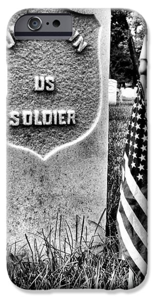 Vetran iPhone Cases - Unknown Soldier iPhone Case by JC Findley
