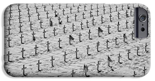 Soldiers National Cemetery Digital iPhone Cases - Unknown Soldiers iPhone Case by Michael Braham