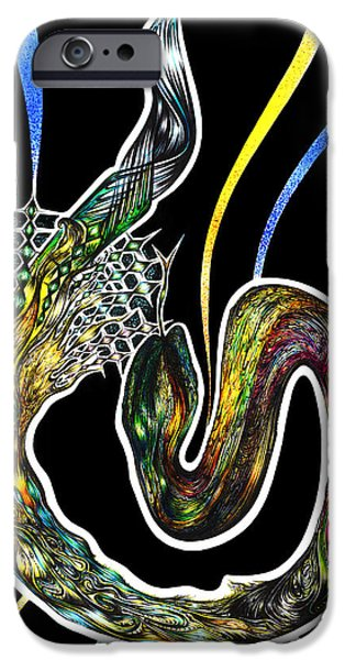 Shed Drawings iPhone Cases - Unravelling Sacred Knowlege iPhone Case by Adam Boshart