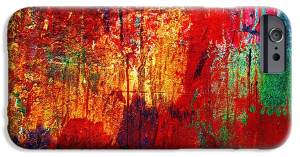 Thanksgiving Digital iPhone Cases - Untamed Colors  iPhone Case by Prakash Ghai