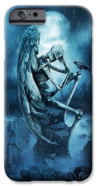 Recently Sold -  - Night Angel iPhone Cases - Until The End Of Time iPhone Case by Jessica Allain