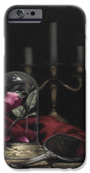 Lumiere iPhone Cases - Until the Last Petal Falls iPhone Case by Brianne Kirbyson