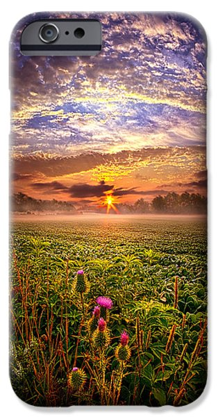 Farming Photographs iPhone Cases - Until We Meet Again iPhone Case by Phil Koch