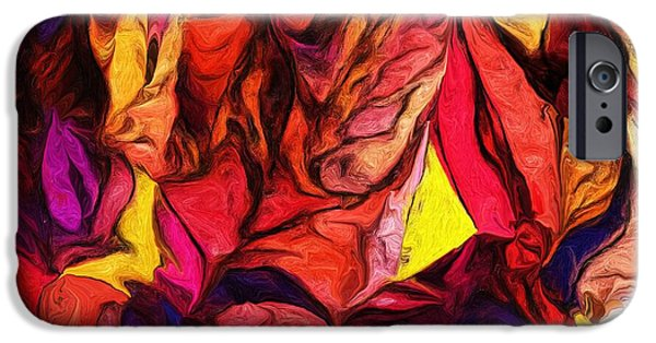 Abstract Digital Digital Art iPhone Cases - Untitled 081113 iPhone Case by David Lane