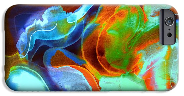 Timeless Design Paintings iPhone Cases - Tangerine Dream iPhone Case by Odessa Christiana
