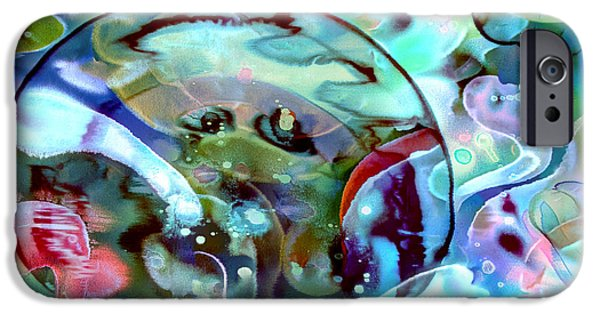Timeless Design Paintings iPhone Cases - Crystal Blue Persuasion iPhone Case by Odessa Christiana