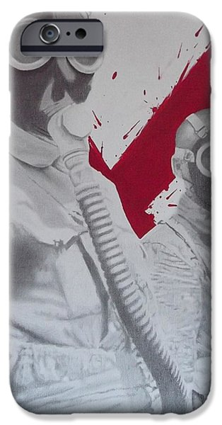 Mix Medium Drawings iPhone Cases - Untitled iPhone Case by Asev One